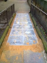 New Paving Stones in front of Goldthorpe