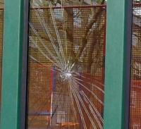 Broken Window on the Main Entrance of Goldthorpe