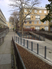 New fences near the ramps