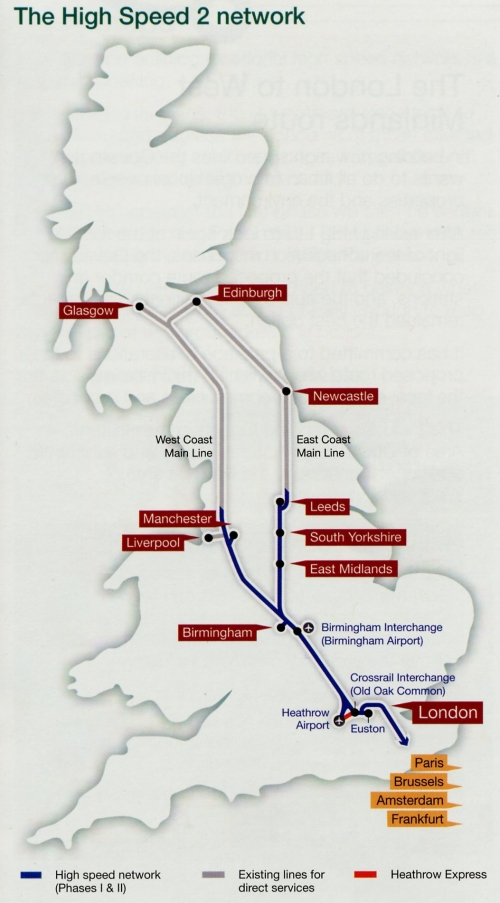 High Speed Rail Route Map 19 January 2011